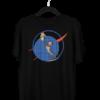 Doge Coin Centered Black Half Sleeve T-Shirt