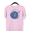 Doge Coin Centered Cotton Candy PinkHalf Sleeve T-Shirt