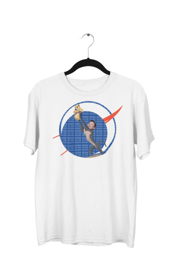 Doge Coin Centered White Half Sleeve T-Shirt